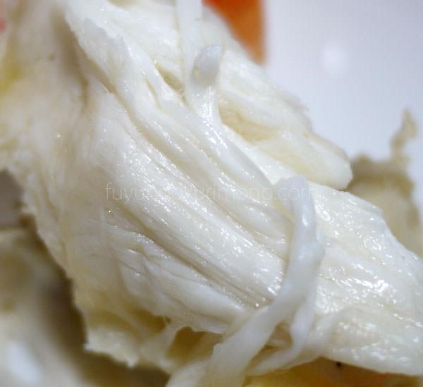 甲羅おせち料理 寿 たらば塩ゆで  カニ肉アップが画像