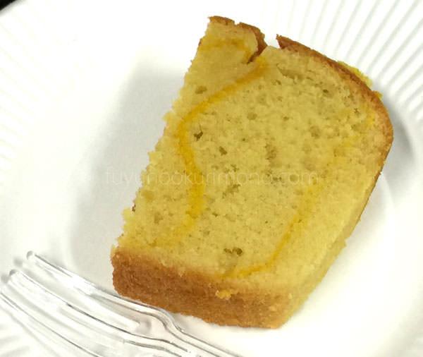 三越お歳暮 やさしいおやつ 安納芋のパウンドケーキ 試食画像 断面図
