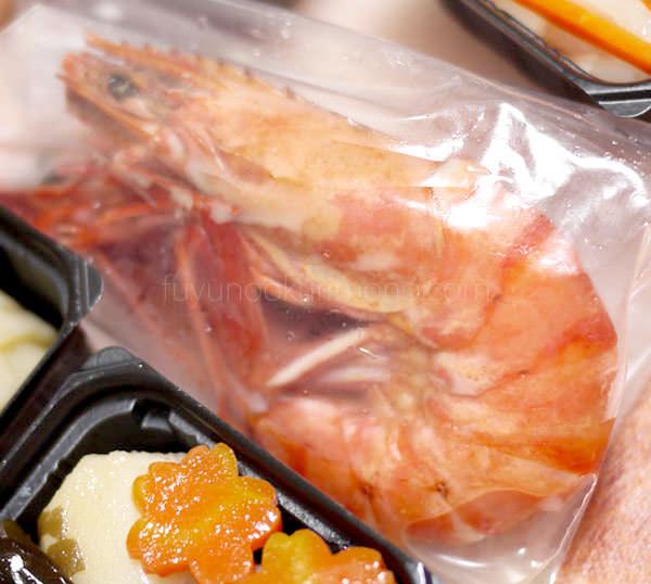 「セコムの食」の手作り和風おせち お試しセット 海老酒蒸し部分