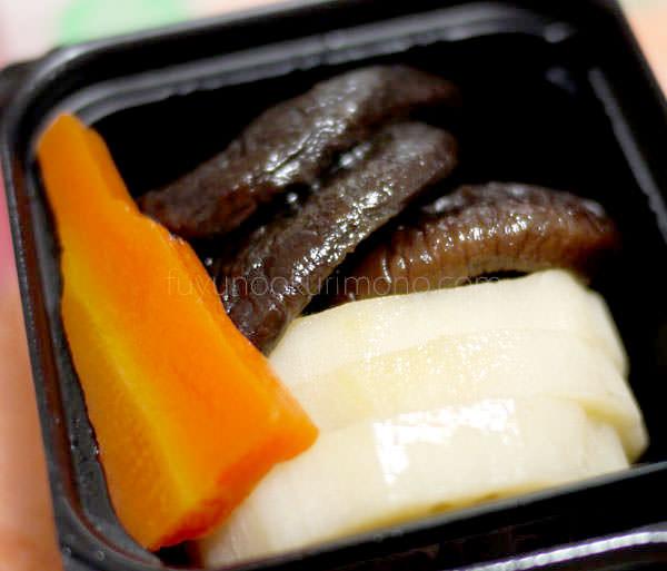 「セコムの食」の手作り和風おせち お試しセット お煮しめ部分 しいたけとレンコン