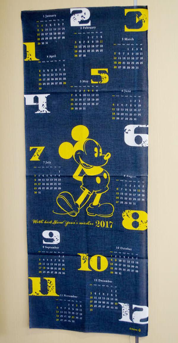 ミッキーマウス 手ぬぐいカレンダー 全体画像
