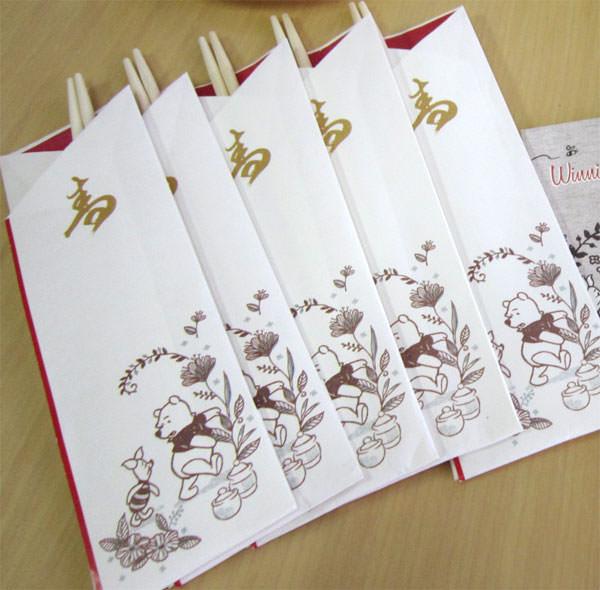 くまのプーさん三段重 祝い箸