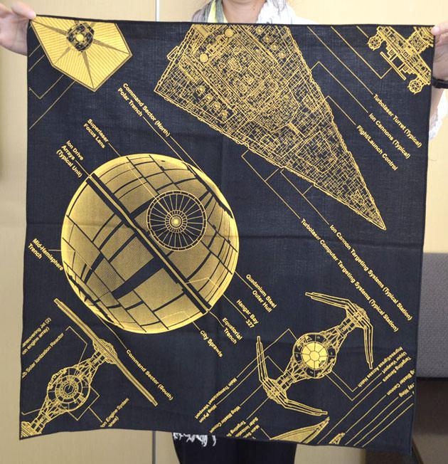 風呂敷は帝国軍戦闘機の設計図