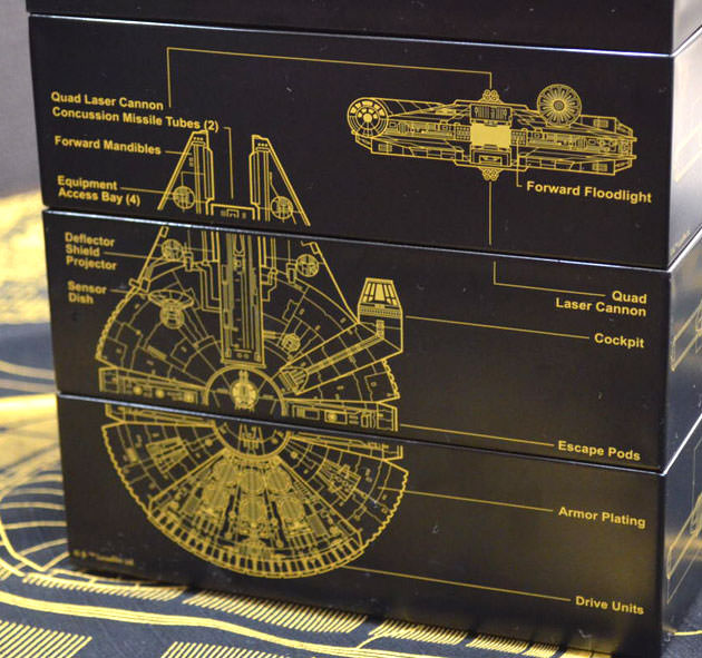 三段重の側面のデザイン ミレニアム・ファルコン