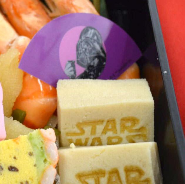 ダースベイダーのバランとスターウォーズロゴの高野豆腐