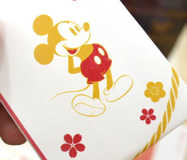 祝い箸のデザインはミッキーマウス