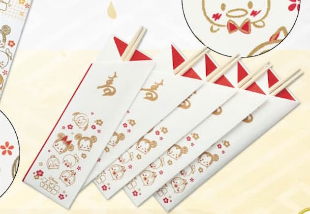 祝い箸のデザインもツムツム