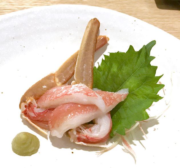 生ずわい蟹 刺身