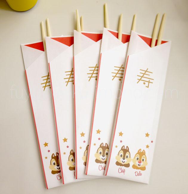 チップ&デール三段重 祝い箸