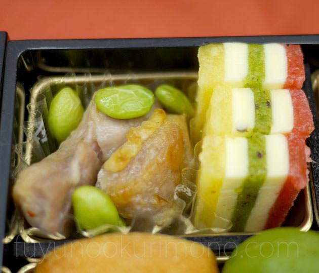 「三色フルーツサンド」「鶏肉と枝豆のアヒージョ」