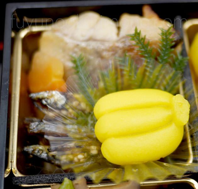 「きびなご田作り」「赤魚西京焼」「練り切りバナナ」