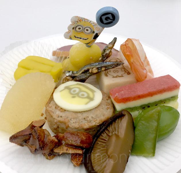 「ミニオン三段重」試食