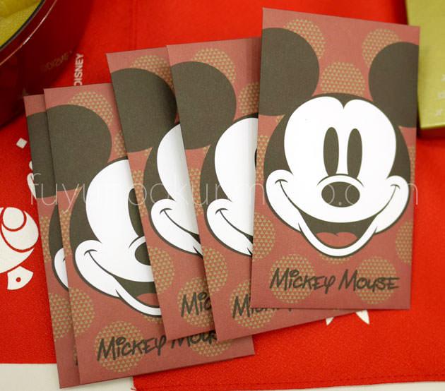 ミッキーマウス三段重のぽち袋
