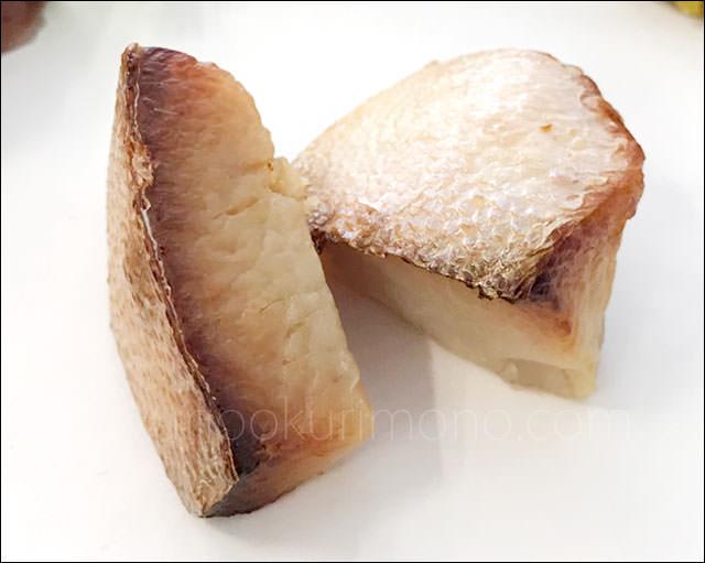 プレミアムおせちの試食メニュー「鰤とろ西京焼」