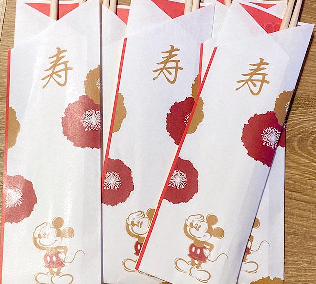 四段重 和風プレミアム に付属する祝い箸