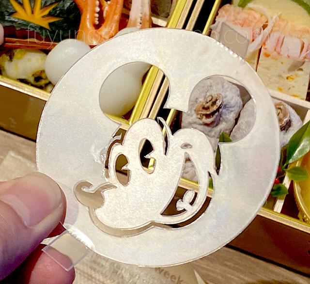 ミッキーマウス型のプリン用ステンシル