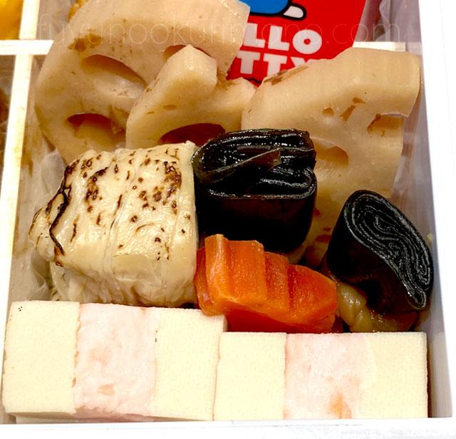 焼き湯葉や昆布巻き海老高野サンド