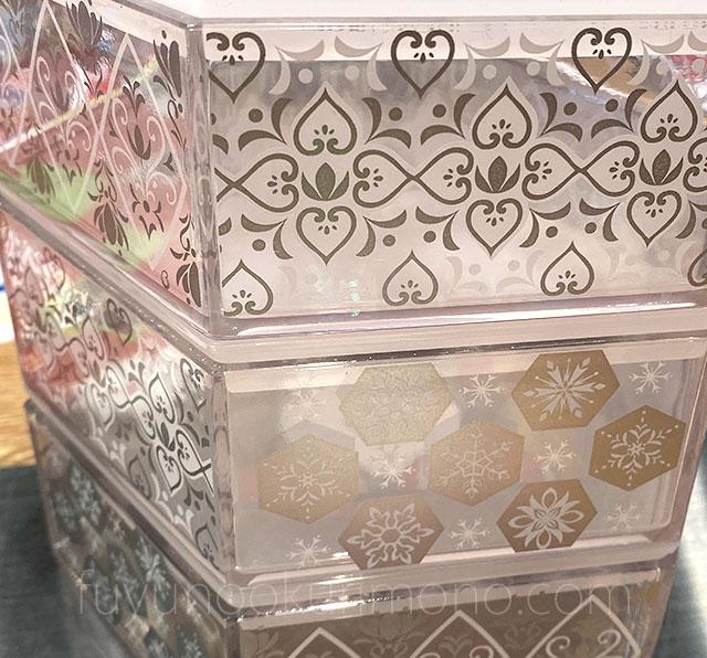 三段重 アナと雪の女王 重箱は半透明のデザイン