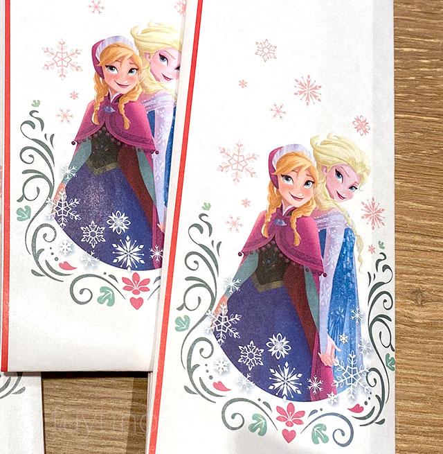 三段重 アナと雪の女王 祝い箸 拡大画像