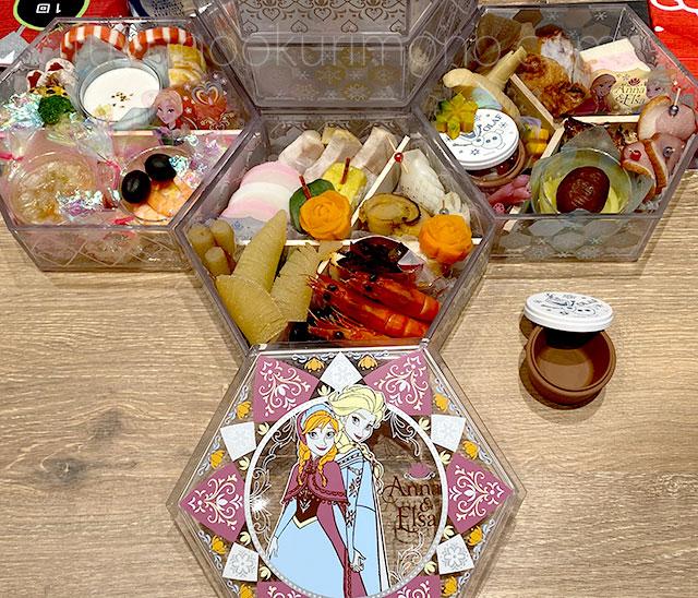 アナと雪の女王 三段重 料理全体画像