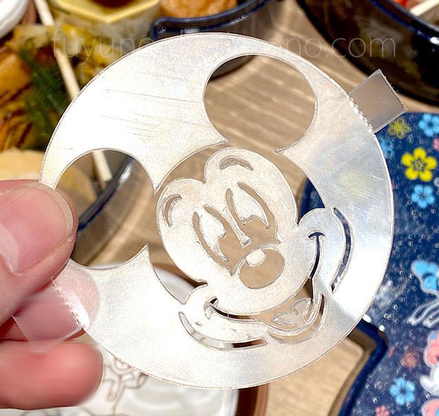 三の重 ミッキーマウス型のプリン用ステンシル