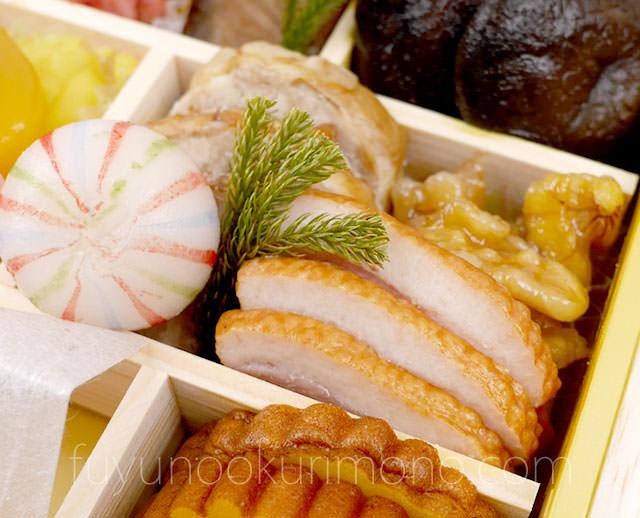 手まり餅・チキン三色巻・合鴨スモーク・メープルくるみ